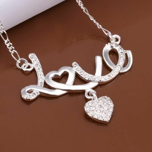 Sterling Silver Infinity Love Pendant Necklace Heart Cubic Zirconia Gift Box PS1 $8.98