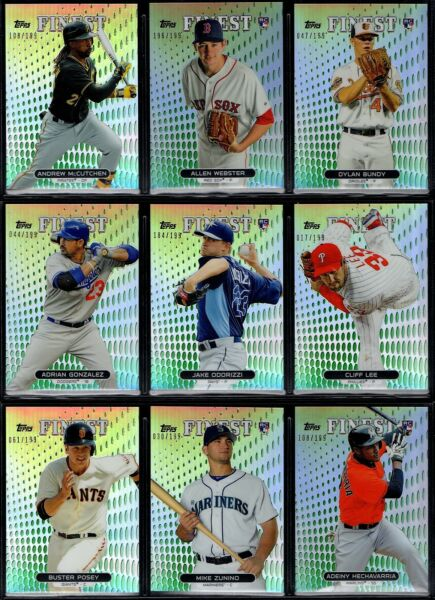 2013 Topps Finest Green Refractor Parallel 199 You Pick Finish Your Set