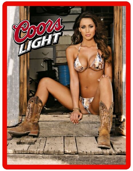 Coors Light Beer Sexy Cowgirl Refrigerator Magnet