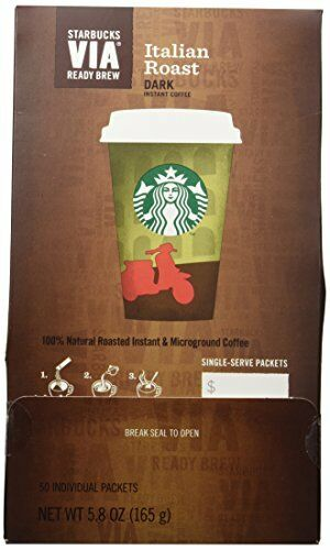 NEW Starbucks VIA Ready Brew Italian Roast Coffee 50 count FREE SHIPPING