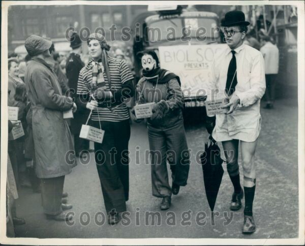 1954 Manchester England Students in Funny Costumes Rag Day Parade Press Photo $25.00