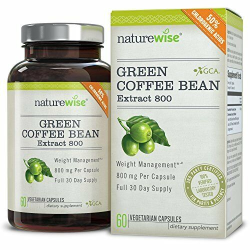 NatureWise Green Coffee Bean Extract 800 with Loss Supplement 60 Caps