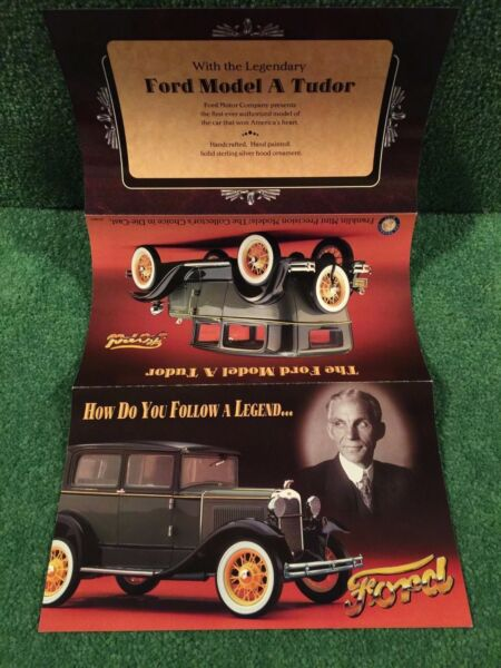 Franklin Mint quot;The 1930 Ford Model A Tudor quot;. Brochure