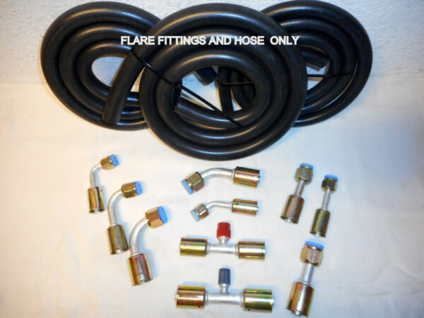 Air Conditioning Hose Kit, FLARE FITTINGS & HOSE ONLY, For General Use
