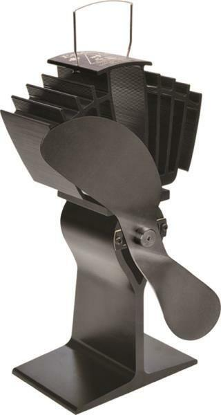 NEW CAFRAMO 812AMXBX ECOFAN BLACK AIRMAX HEAT POWERED WOOD STOVE FAN BLADE