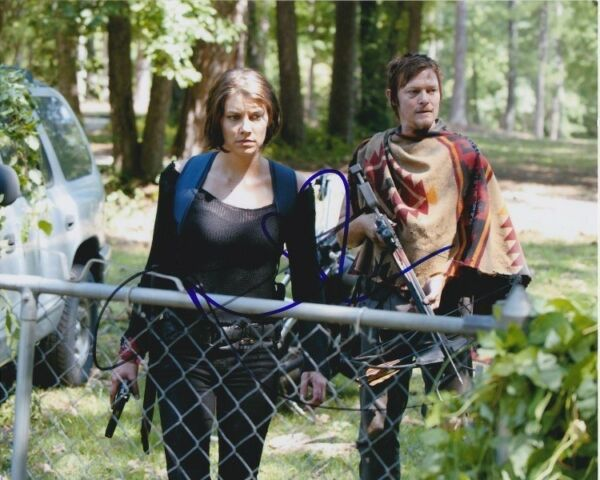 NORMAN REEDUS & LAUREN COHAN signed autographed THE WALKING DEAD photo