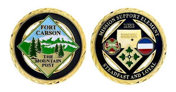 ARMY FORT CARSON THE MOUNTAIN POST MSE STEADFAST AND LOYAL 1.75quot; CHALLENGE COIN $18.99