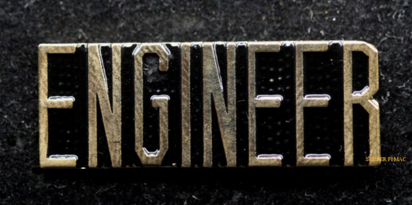 ENGINEER SCRIPT HAT LAPEL PIN US ARMY MARINES AIR FORCE NAVY TRAIN AIRCRAFT GIFT