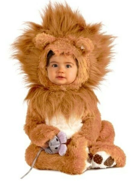 Little Lil Lion Cub Costume Baby Infant Toddler Plush - 0-6M 6-12M 12-18M
