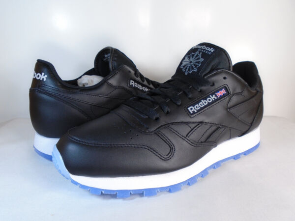 MENS REEBOK CLASSIC LEATHER ICE Black/White/Steel/Ice AR3782 ATHLETIC