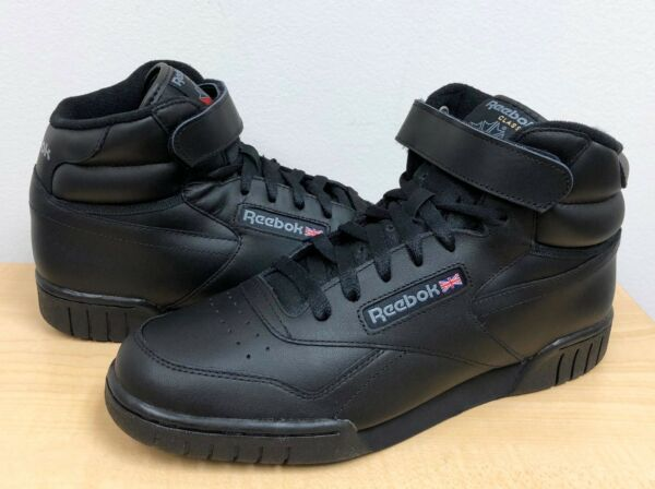 MENS REEBOK CLASSIC EX-O-FIT HI Black/Black -3478- ATHLETIC