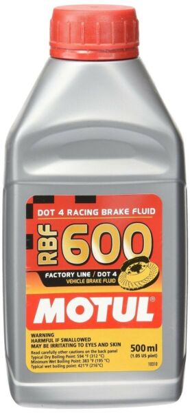 Motul RBF 600 Factory Line 100% Synthetic DOT 4 Racing Brake Fluid 500mL