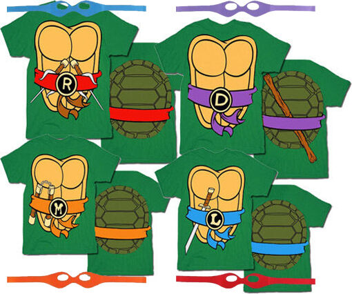 TMNT Teenage Mutant Ninja Turtles Costume T-Shirt Tee
