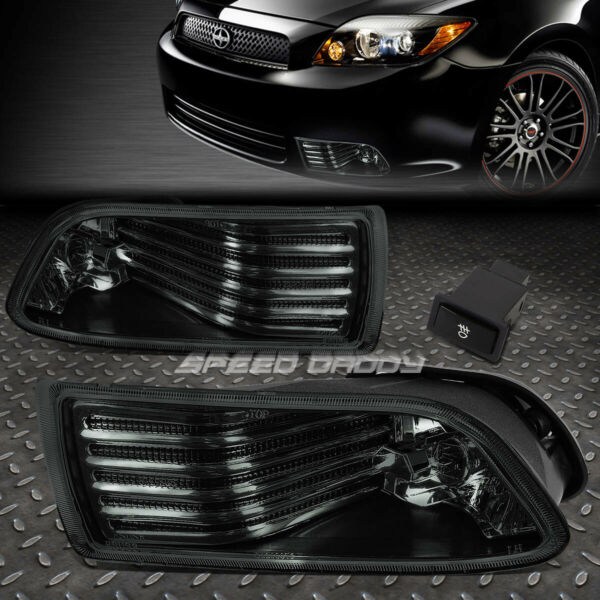 FOR 05 10 SCION TC SMOKE LENS BUMPER DRIVING FOG LIGHT REPLACEMENT LAMP W SWITCH $42.88