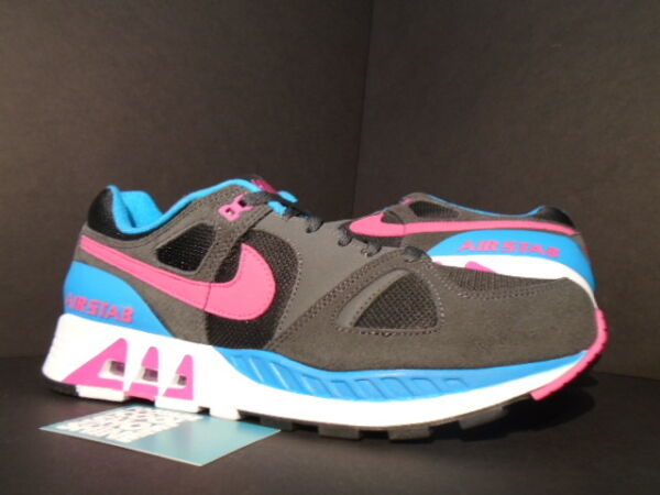 NIKE AIR STAB BLACK HOT PINK ANTHRACITE GREY BLUE LAGOON WHITE 312451-004 DS 9.5