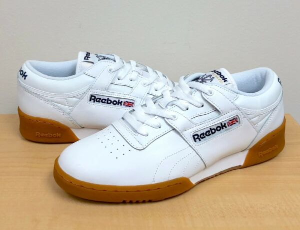 MENS REEBOK CLASSIC WORKOUT LO White/Gum  63978  ATHLETIC