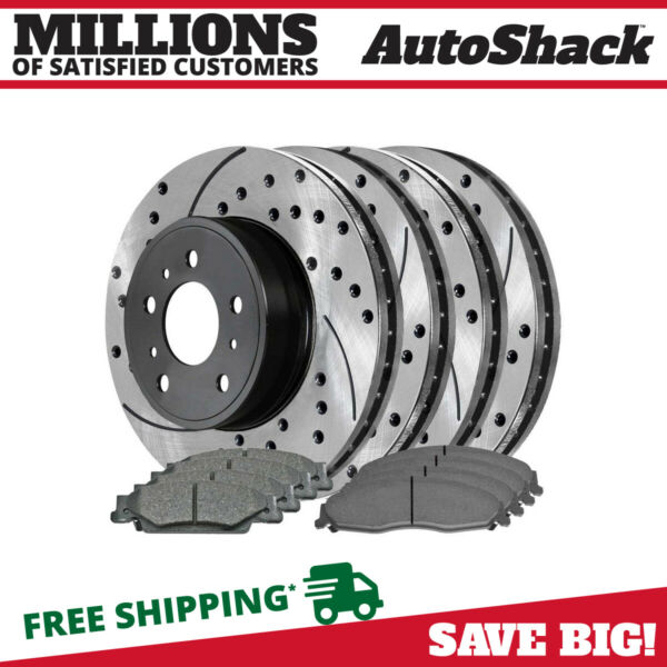 4 Performance Rotors and 8 Ceramic Brake Pads fits Cadillac 03-07 CTS 05-08 STS