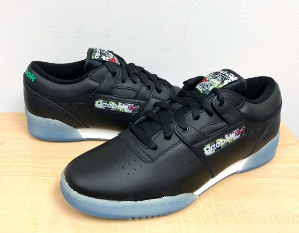 MENS REEBOK CLASSIC WORKOUT LO CLEAN SF Black/Ice  -V67877- ATHLETIC