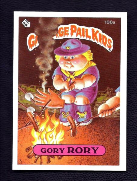 GORY RORY 1986 Topps Garbage Pail Kids ERROR LIGHT Color VARIATION Rare #190a