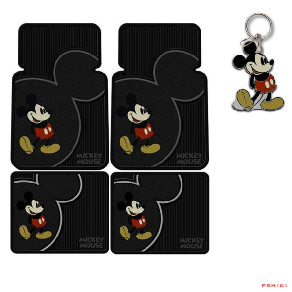 New Disney Mickey Mouse Classic Car Truck Rubber Floor Mats Front / Rear