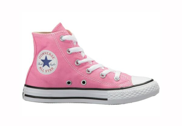 Converse Kids Chuck Taylor All Star Hi Top Pink White Shoes 3J234