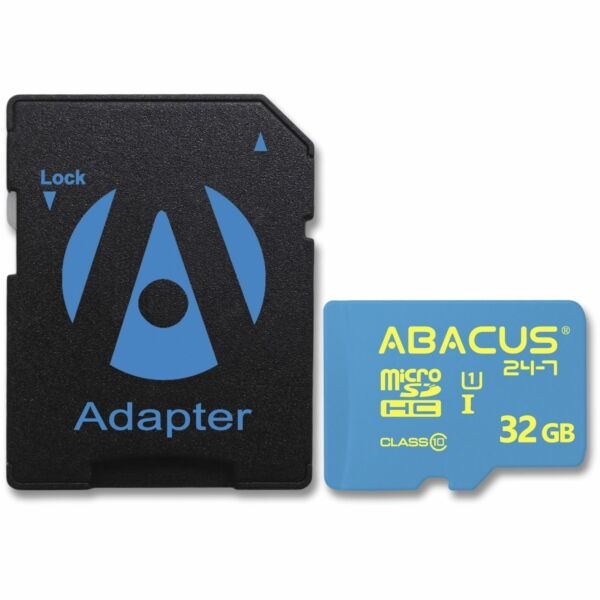 Abacus 24-7 Brand 32GB Micro SD Card Class 10 Speed with SD Adapter - microSDHC