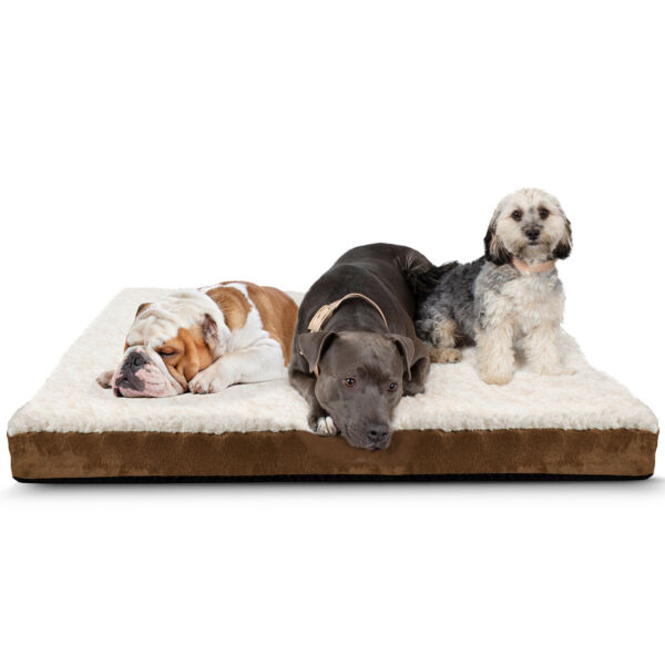 Orthopedic Dog Bed Pet Lounger Deluxe Cushion for Crate Foam Soft Large $24.44