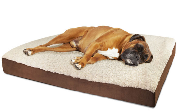 Orthopedic Dog Bed Pet Lounger Deluxe Cushion for Crate Foam Soft Fuzzy - XL $34.79