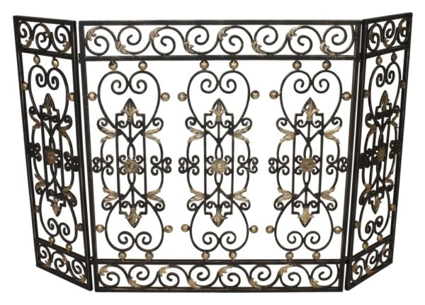 FIREPLACE SCREENS quot;SAVOIEquot; DECORATIVE FIRE SCREEN BURNISHED GOLD