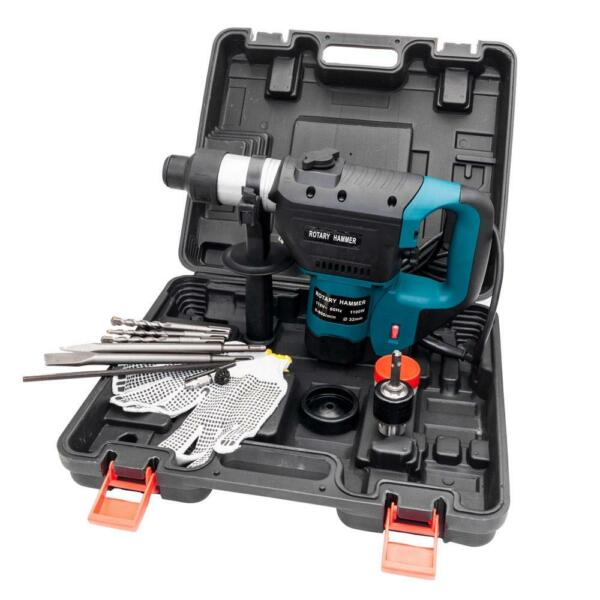 1 1 2quot; SDS Electric Rotary Hammer Drill Plus Demolition Variable Speed w Bits US $64.99