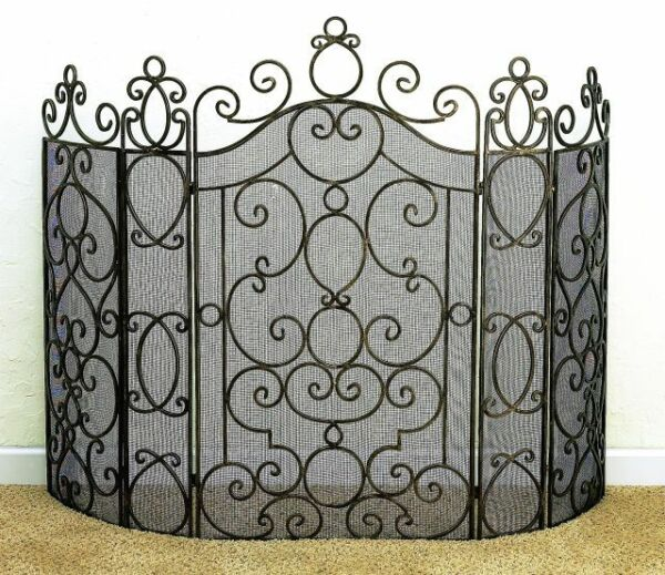 FIREPLACE SCREENS quot;ANDALUSIAquot; FIREPLACE SCREEN ANTIQUE BRASS FINISH