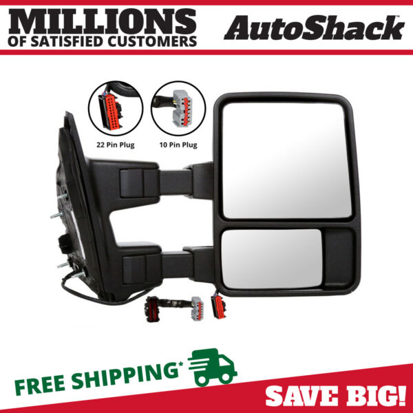 Power Heated Signal Right Side View Mirror Fits 2003-2016 Ford F-250 Super Duty
