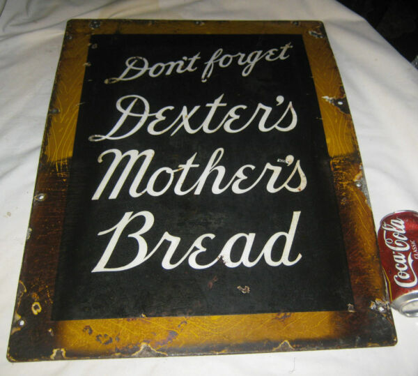 AMERICAN USA PORCELAIN DEXTERS MOTHER BREAD BAKERY COUNTRY KITCHEN BAKE ART SIGN