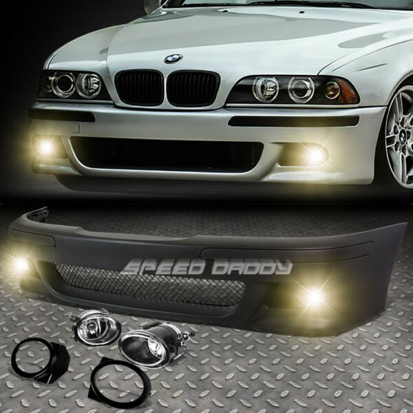FOR 96 03 BMW E39 5SERIES M5 STYLE REPLACEMENT FRONT BUMPER BODY KITFOG LIGHT