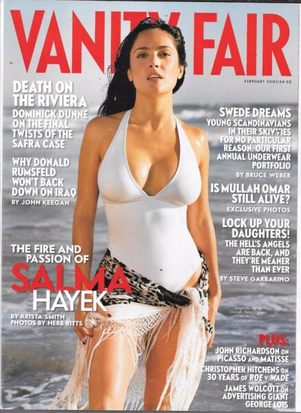 VANITY FAIR MAGAZINE FEBRUARY 2003 SALMA HAYEK (VF)