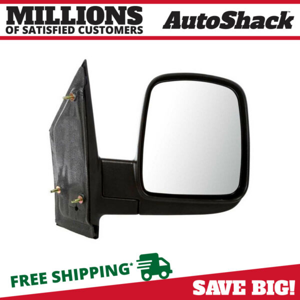 Black Manual Passenger Right Folding Side Mirror for 03-15 Chevy Express 2500