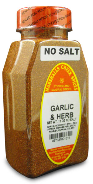 Marshalls Creek Spices GARLIC AND HERB SEASONING NO SALT Ⓚ Kosher