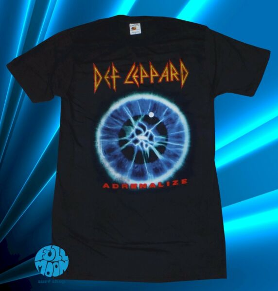 New Def Leppard Adrenalize 7 Day Concert Tour Vintage Mens T Shirt