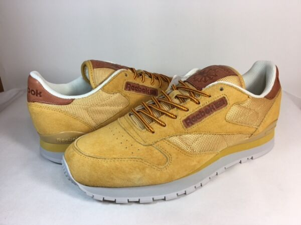 MENS REEBOK CLASSIC LEATHER OL BD2037 Golden Wheat/Steel/Gold