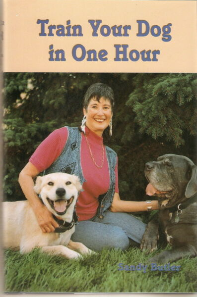 Train Your Dog in One Hour by Sandy Butler (1999 Hardcover) DOG TRAINING