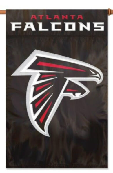 Atlanta Falcons Premium 2-sided 28x44 Banner Applique Embroidered Flag Football