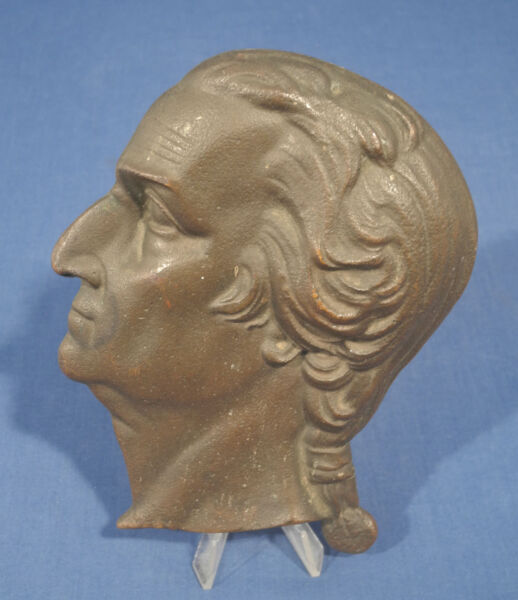 Vtg Antique Cast Iron Head Plaque George Washington 6