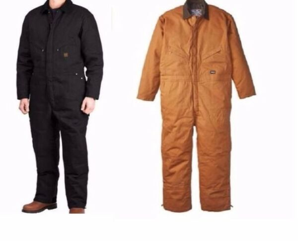 New Walls Work Wear Mens Zero Zone Twill Insulated Lined Coveralls Sizes M-2XL
