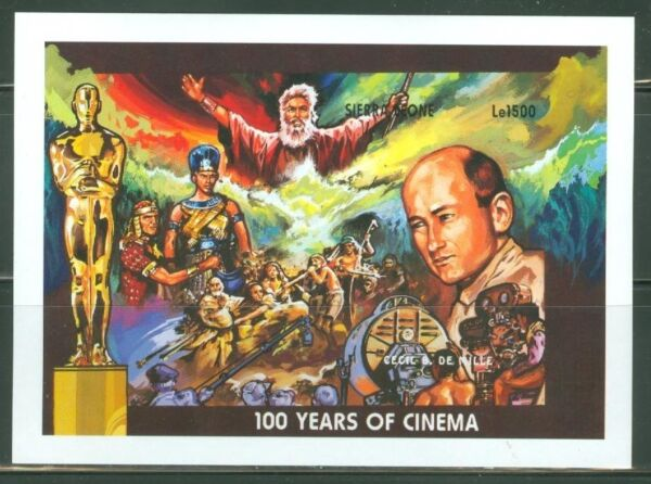 SIERRA  LEONE  IMPERF 100 YEARS OF CINEMA 10 COMMANDMENTS  SS  SC#1868  MINT NH $39.95