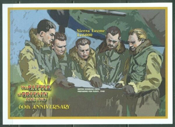 SIERRA  LEONE IMPERF 60th ANNIVERSARY BATTLE OF BRITAIN   SS  SC#2409   MINT NH $39.95