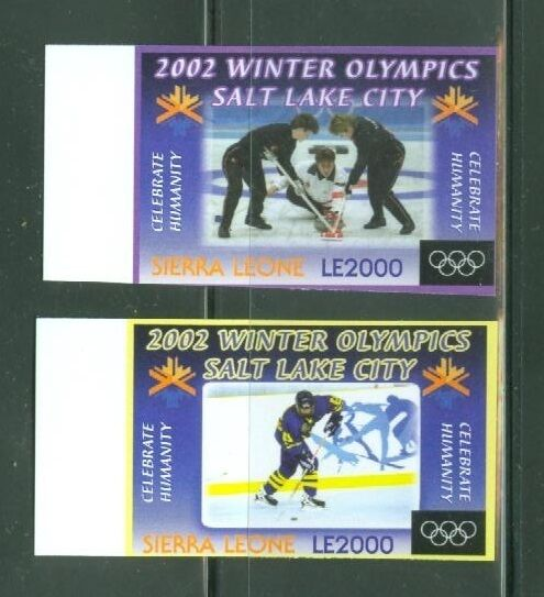 SIERRA  LEONE  IMPERF SALT LAKE CITY WINTER OLYMPICS SET  SC#2252424A   MINT NH $39.95