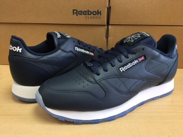 MENS REEBOK CLASSIC LEATHER ICE V48521 Navy/White/Ice