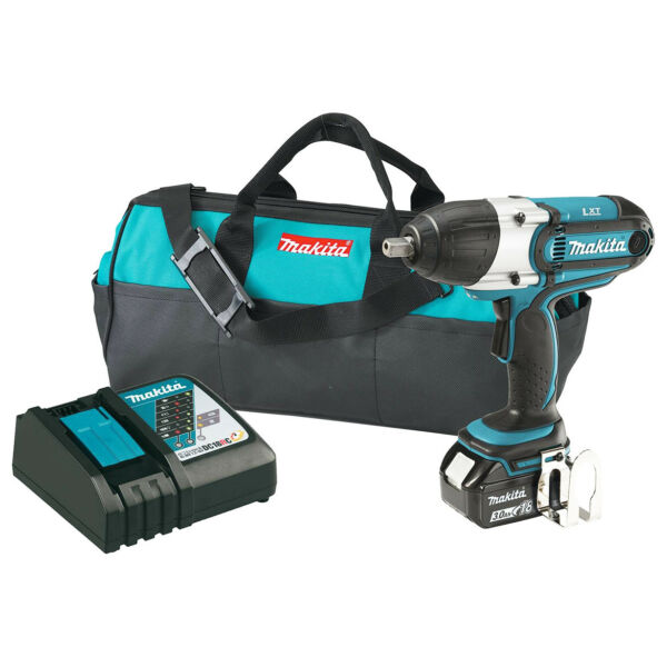 Makita XWT041X 18-Volt 3.0 Ah LXT Lithium-Ion Cordless Drive Impact Wrench Kit
