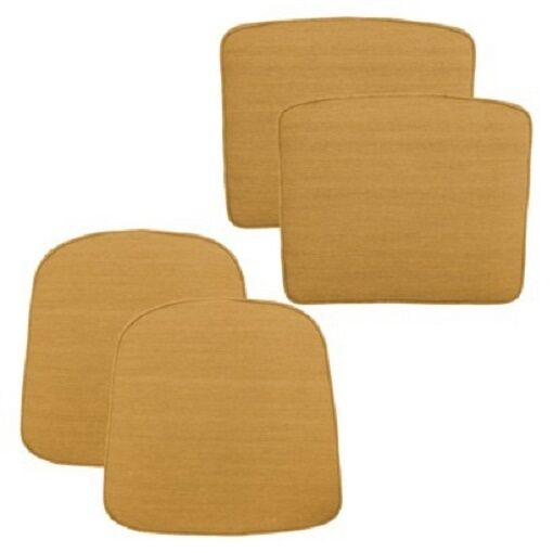 Threshold™ Loft 4 Piece Outdoor Replacement Patio Cushion 2 Set YELLOW $59.99