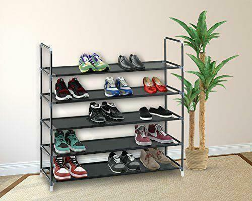 510 Tier Shoe Rack Wall Tower Cabinet Storage Organizer Home Holder Shelf